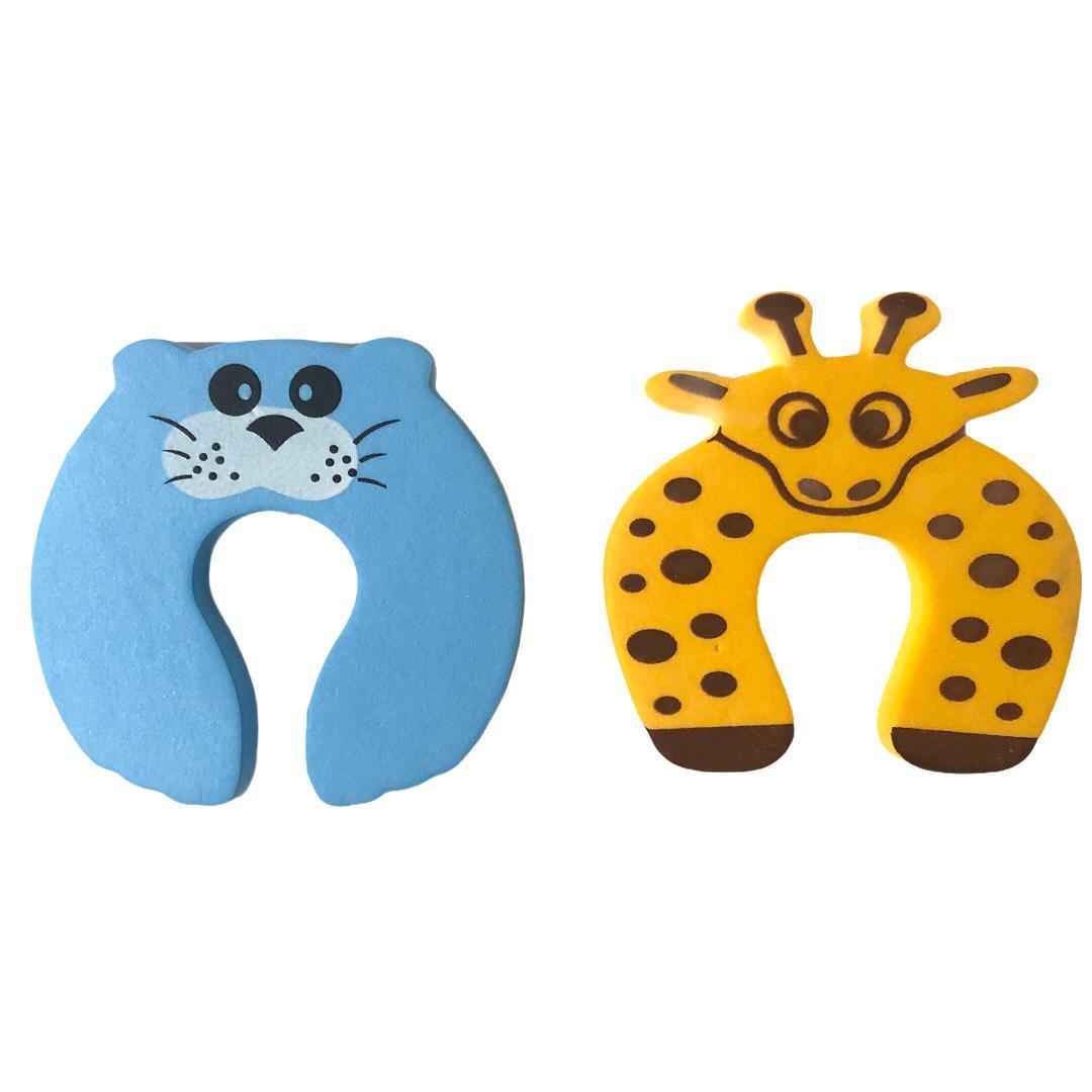Kit 2 Protetores de porta Girafinha e Leão Marinho - Baby