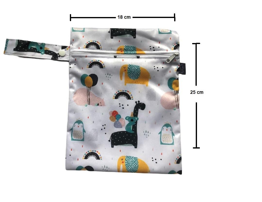 Kit 2 Sacos Para Roupas Impermeável Animais - Baby