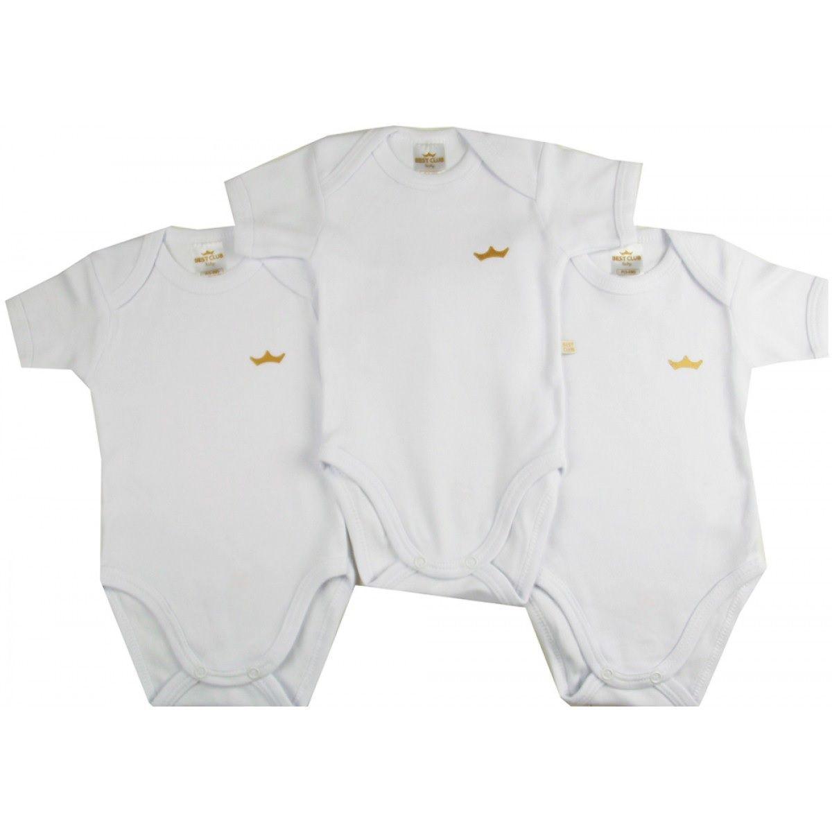 Kit 3 Bodies Branco - Best Club