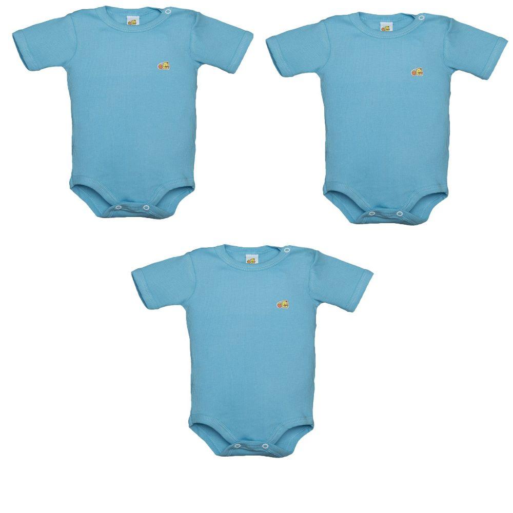 Kit 3 Body  Avulso Azul Tamanho 3 Anos - Baby Duck