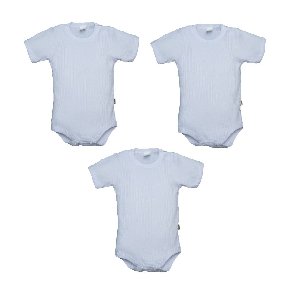 Kit 3 Body  Avulso Branco - Baby Duck