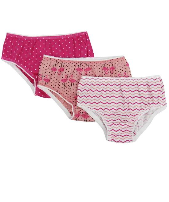 Kit 3 Calcinhas Estampadas Flamingo - Everly