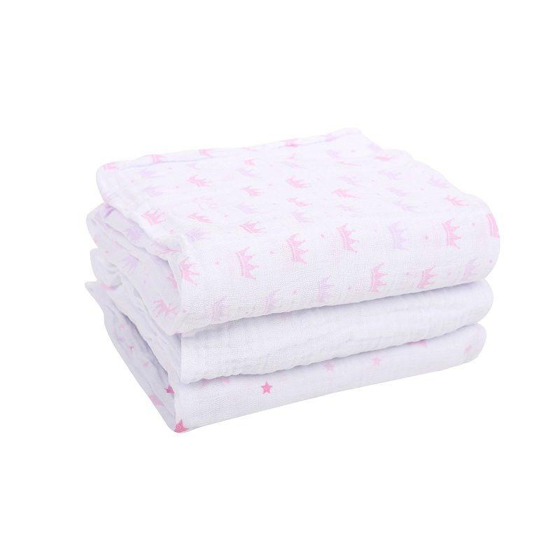Kit 3 Cueiros Soft Estampado Princesa Estrelas - Papi Baby