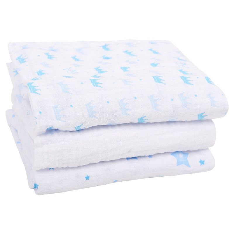 Kit 3 Cueiros Soft Estampado Príncipe - Papi Baby