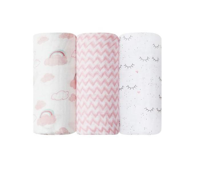 Kit 3 Cueiros Soft Premium Grande Menina - Papi Baby