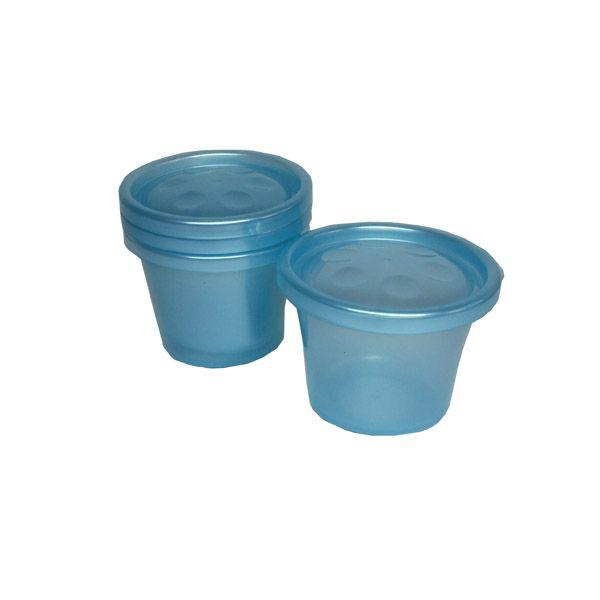 Kit 3 Potes com Tampa Azul 150ml - Buba Baby