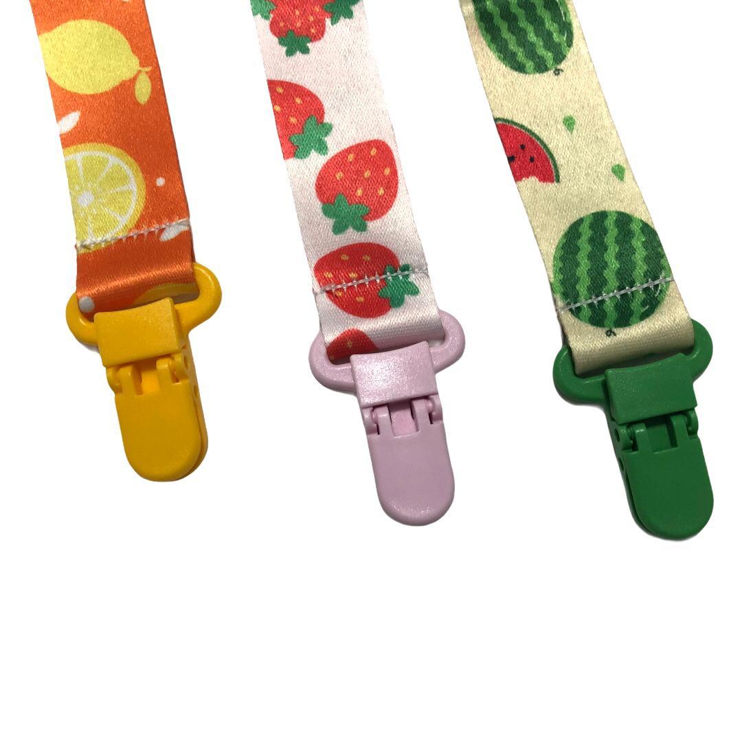 Kit 3 Prendedores de Chupeta Universal Frutas - Baby