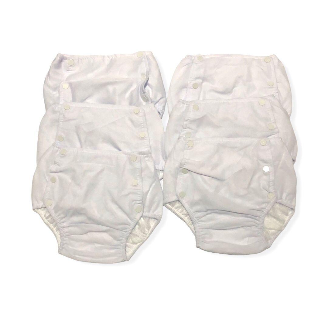 Kit 6 calças enxuta fralda plástica reutilizável bebê - Tamanho 6