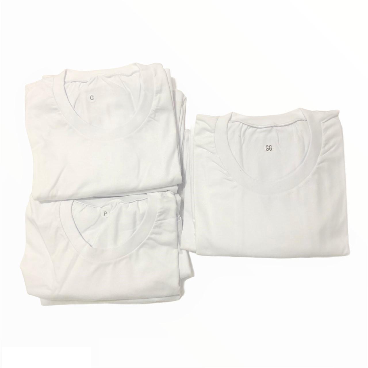Kit 8 Camisetas Adulto Algodão Para Personalização