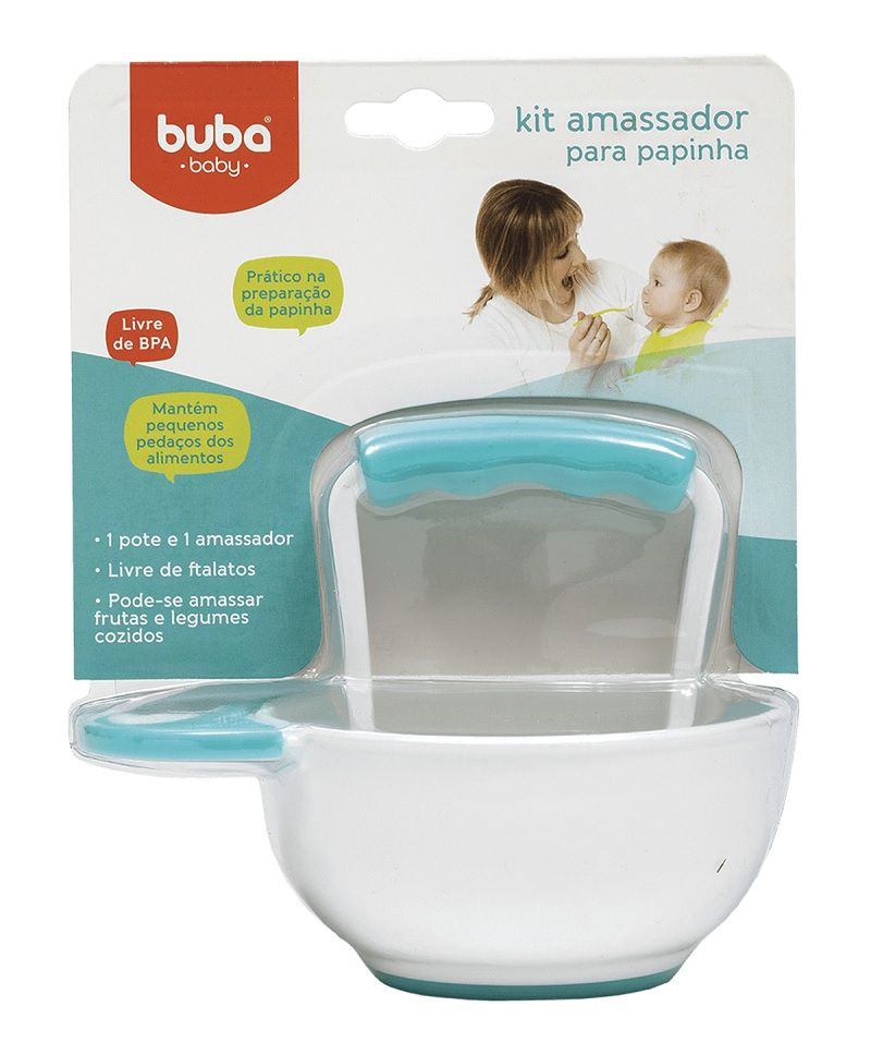 Kit Amassador de Papinha Azul - Buba Baby