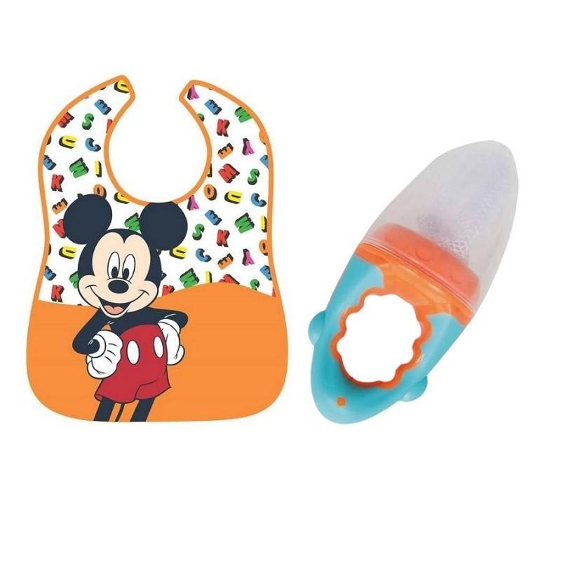 Kit Babador Mickey e Alimentador Laranja - Girotondo e Buba Baby