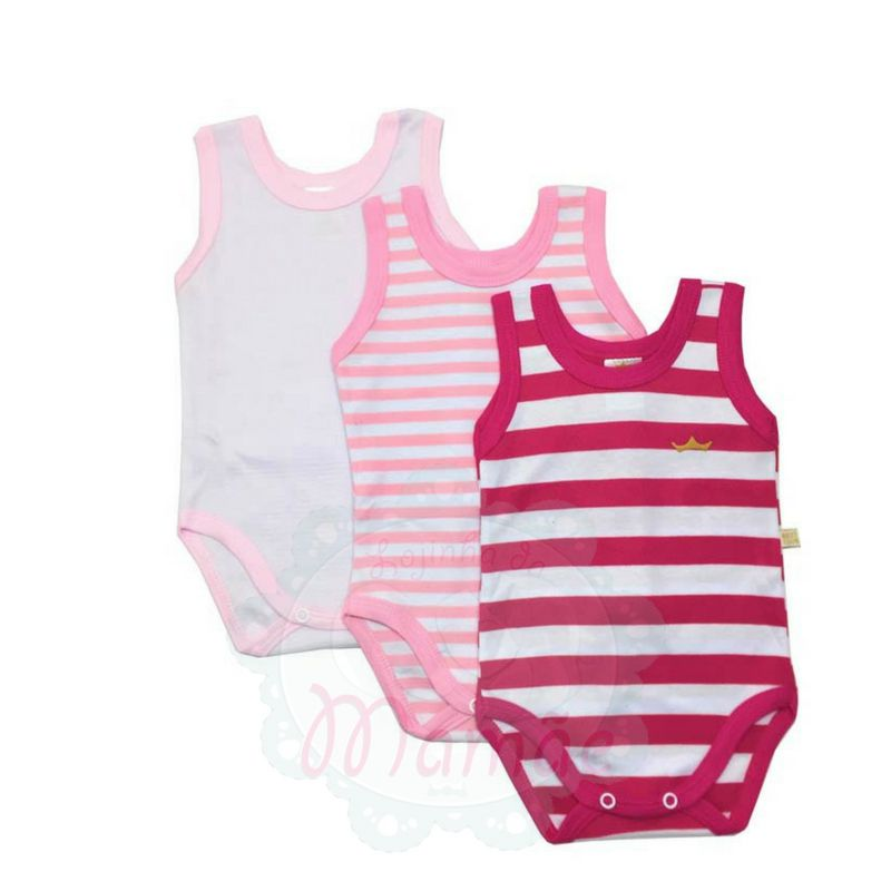 Kit Bodies Regatinhas Listras Rosa - Best Club