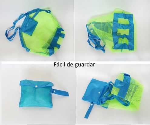 Kit Bolsa de praia para brinquedos pais e filhos(a) (Verde)