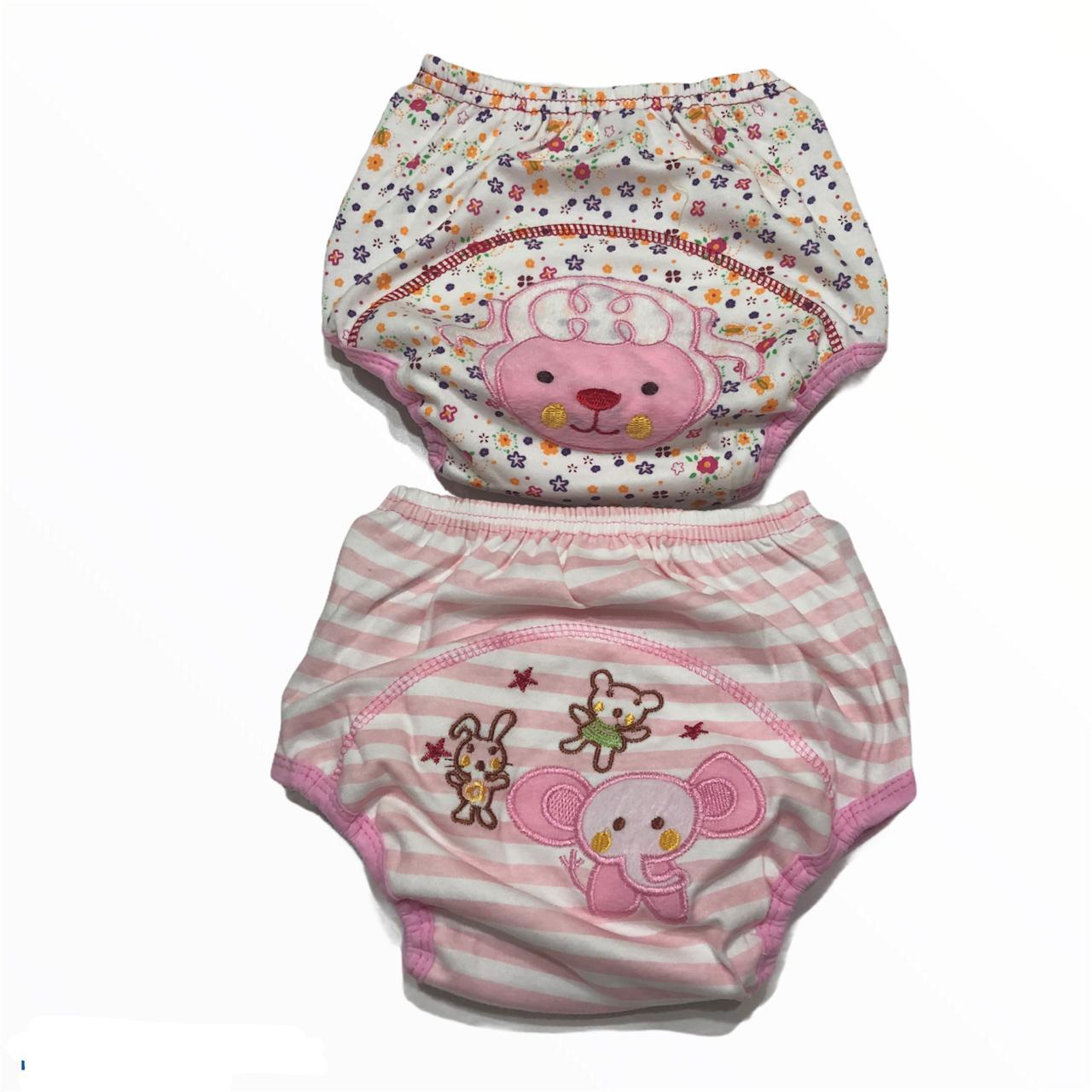 Kit Calcinha Treinamento Desfralde 2unds Rosa Animais - Baby