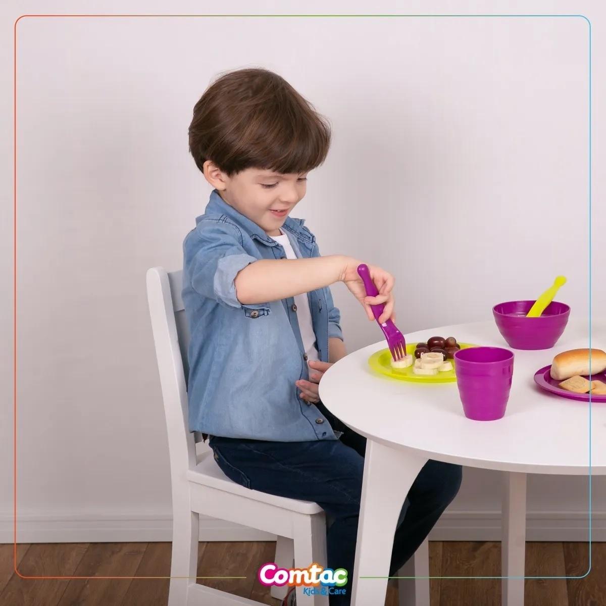 Kit Colheres Plásticos - Comtac Kids