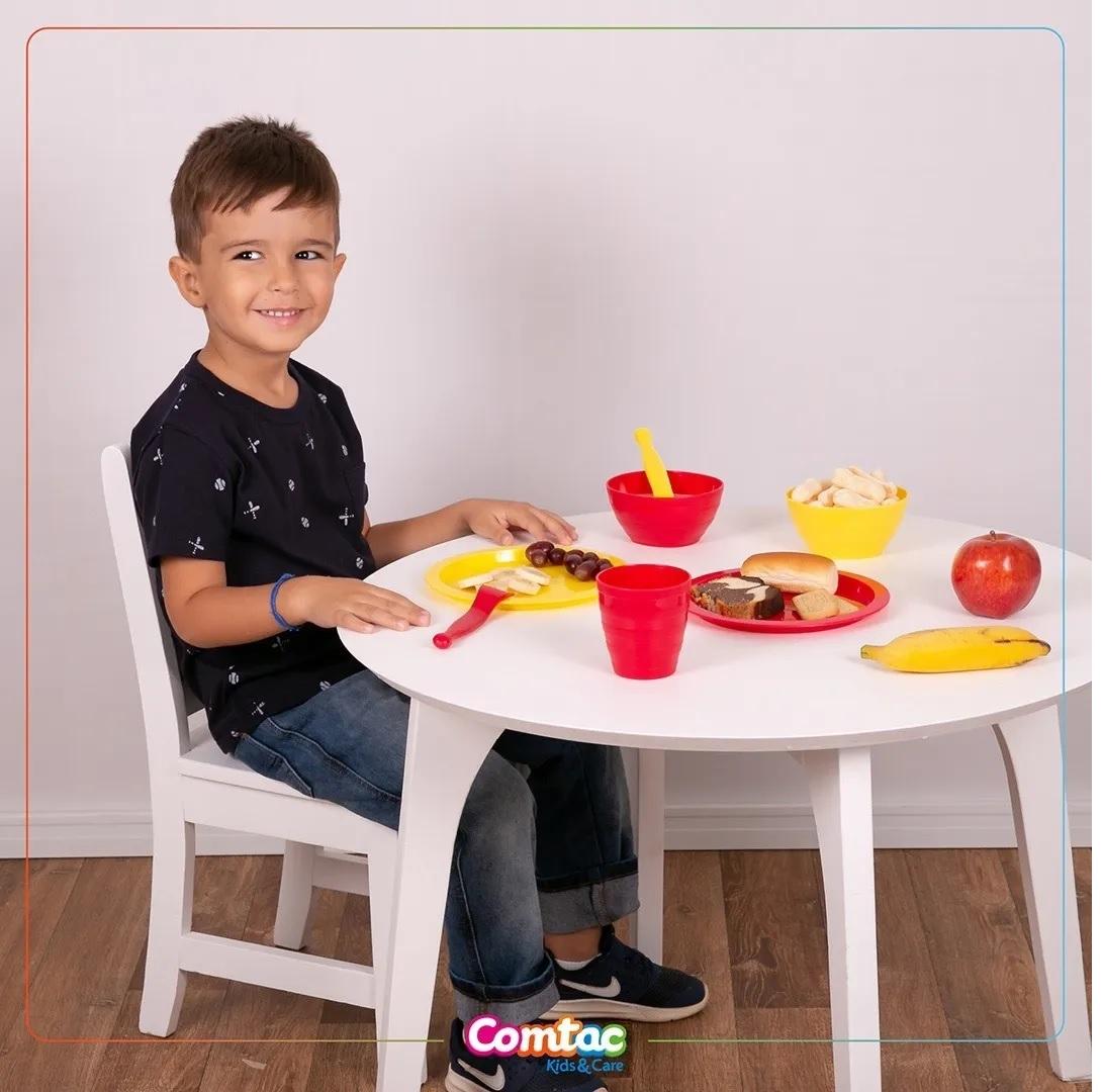 Kit com 5 Pratos Plástico - Comtac Kids