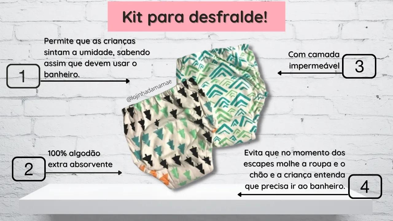 Kit Cueca/Calcinha Desfralde 2unds Tamanho Grande Baby Colors
