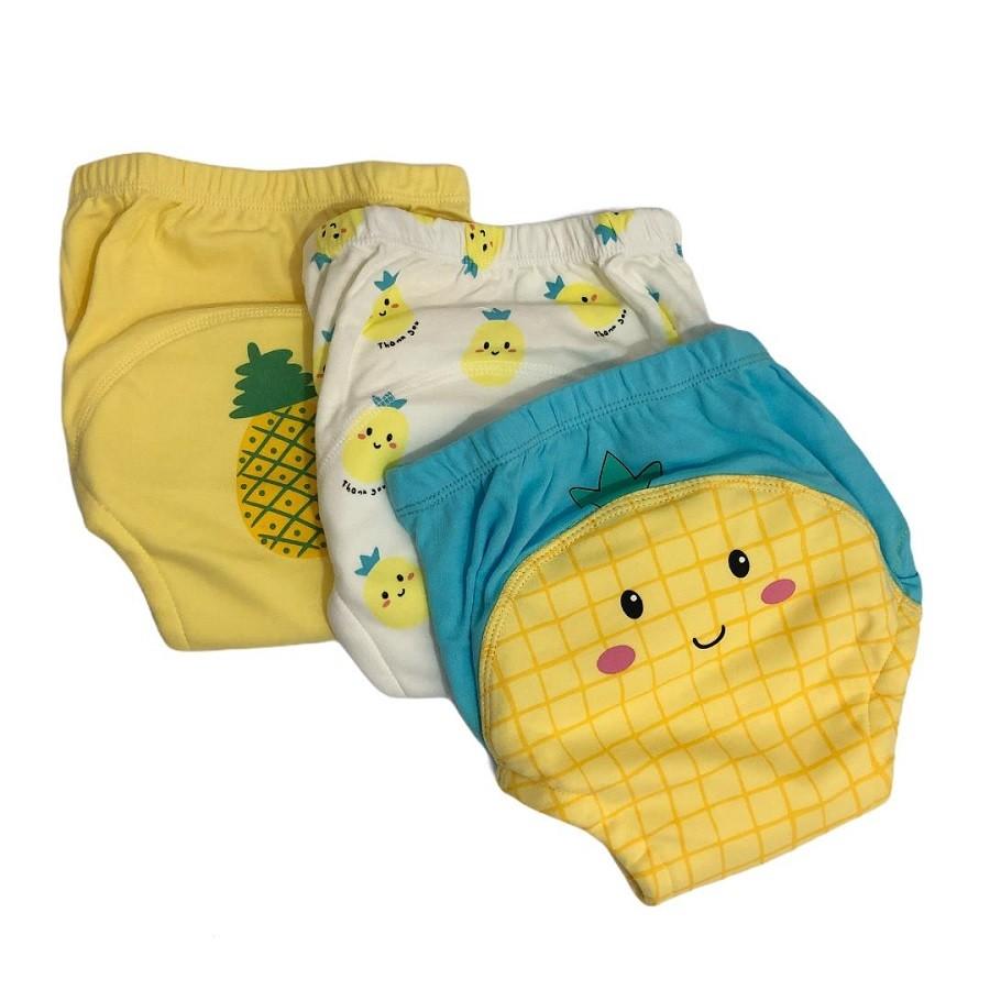Kit Cueca/Calcinha para Desfralde 3 unds Baby - Abacaxi