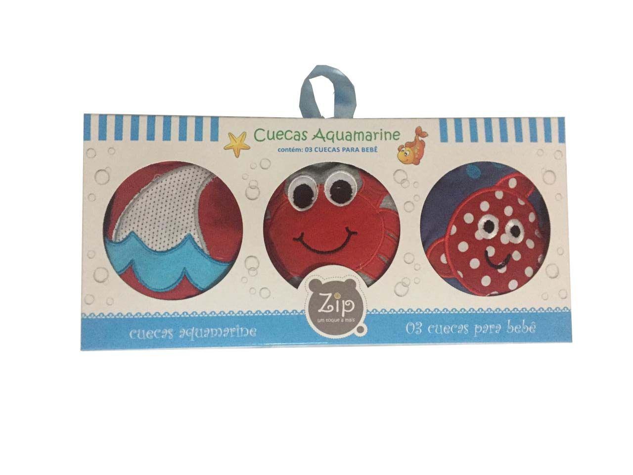 Kit Cuecas Aquamarine - Zip Toys