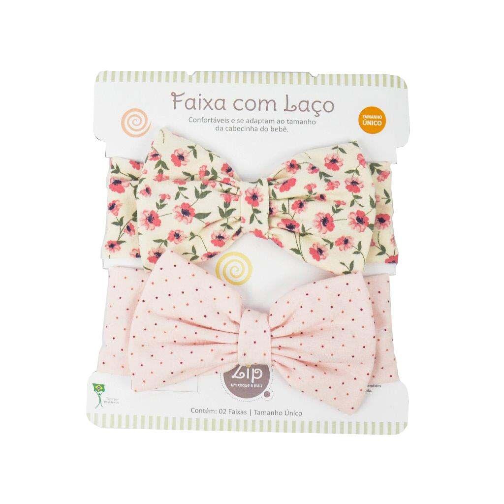 Kit Faixas com Laço Floral e Poá - Zip Toys