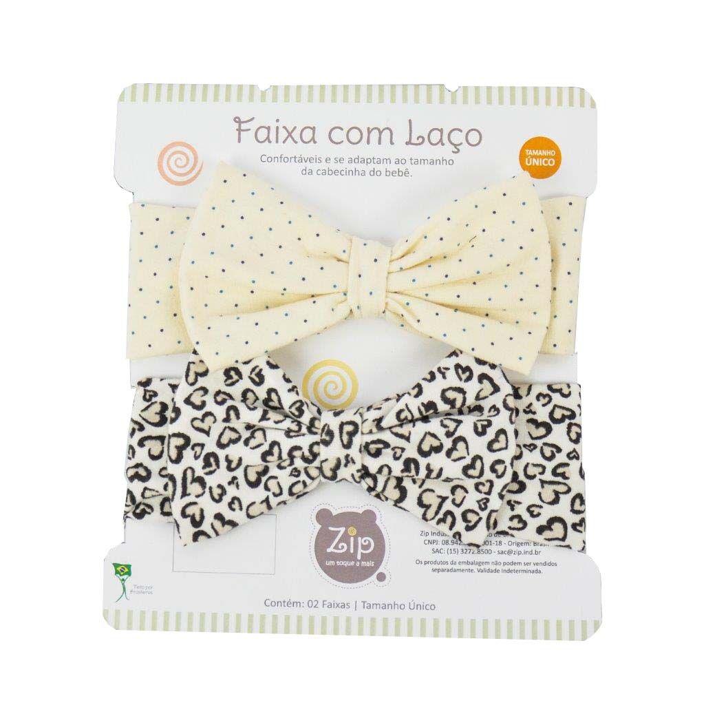Kit Faixas com Laço Poá e Coração - Zip Toys