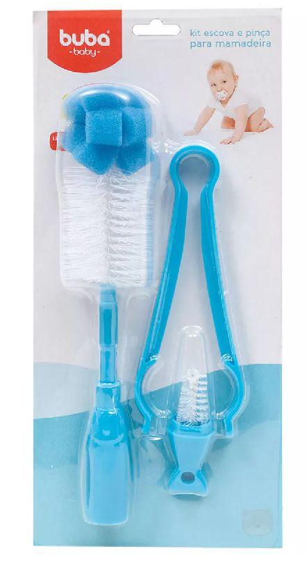 Kit Higiene para Mamadeira Azul - Buba Baby