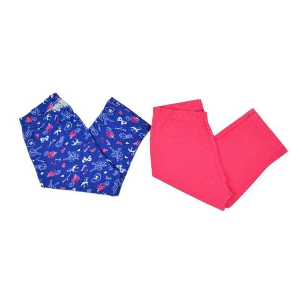 Kit Legging Infantil Azul Laços- 2 Und - Zip Toys