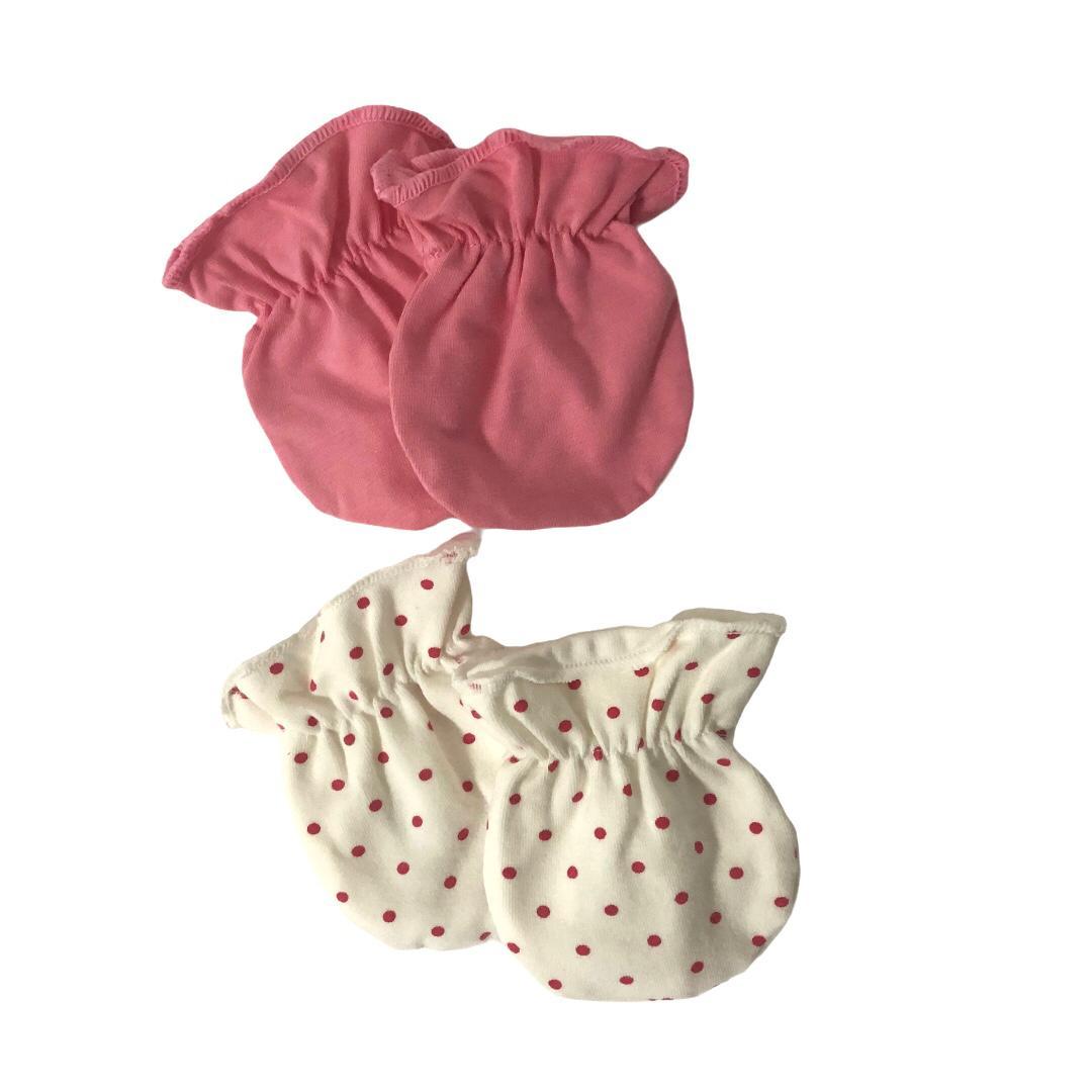 Kit Luvas 100% Algodão Poá Rosa - Zip Toys