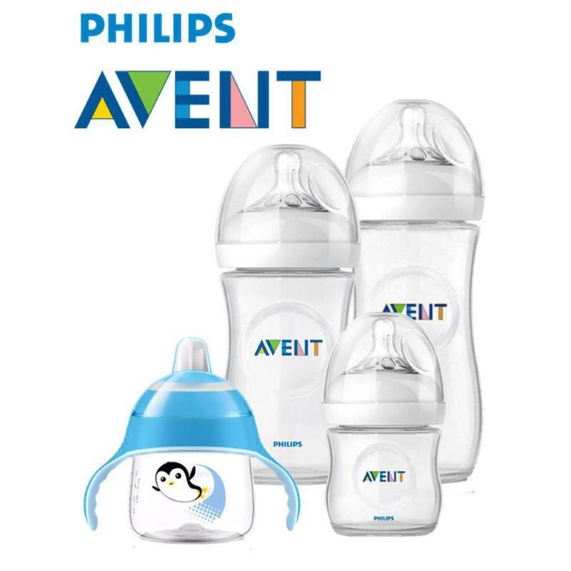 Kit Mamadeiras Pétala e Copo Pinguim Azul - Philips Avent