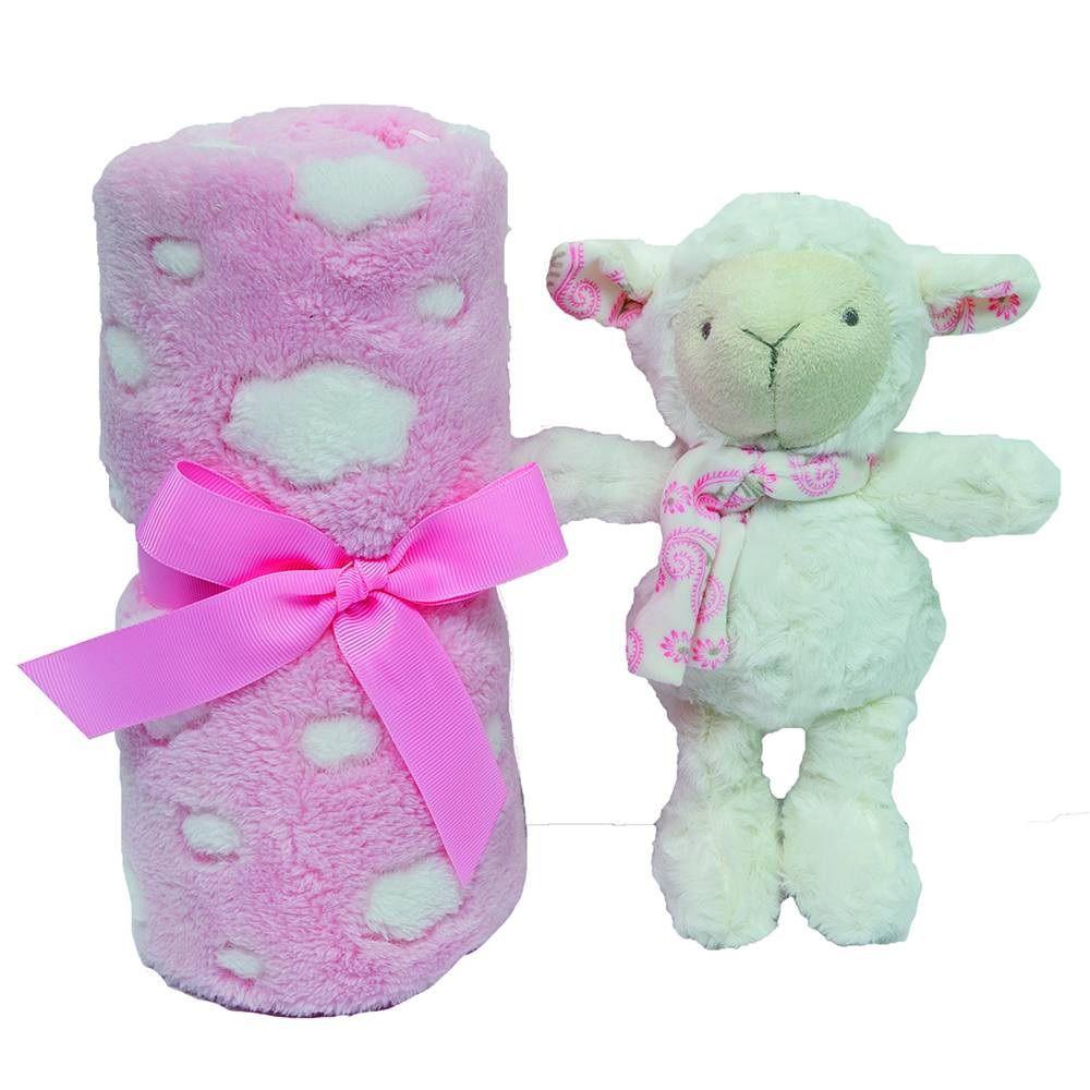 kit presente Ovelhinha Rosa - Buba Baby