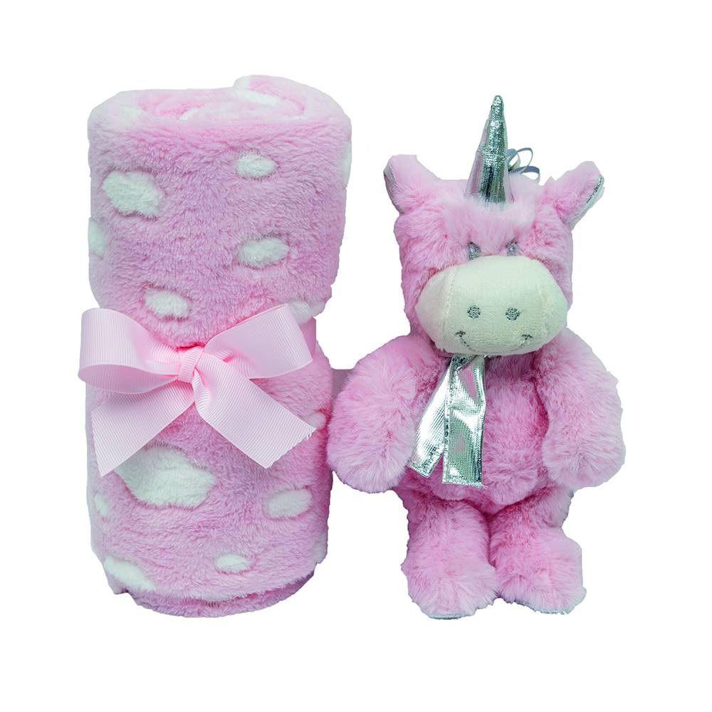 kit presente Unicórnio Rosa - Buba Baby