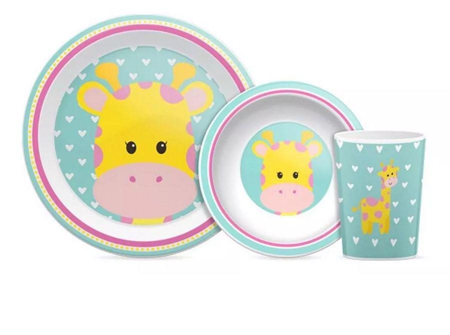 Kit refeição Animal Fun Girafa - Buba Baby