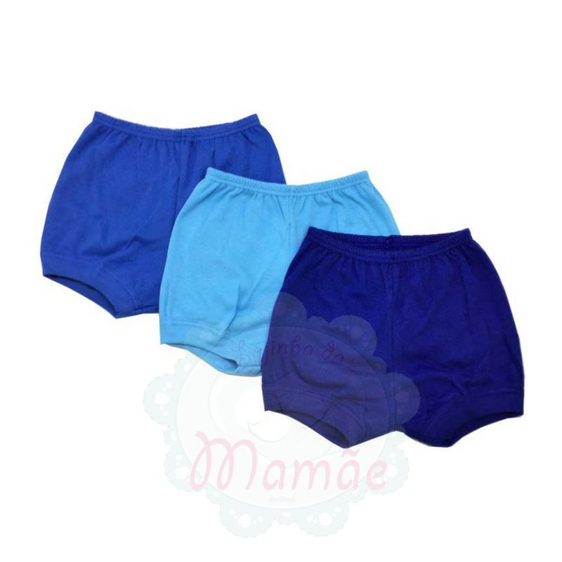 Kit Shorts 3 Unds Azul - Best Club