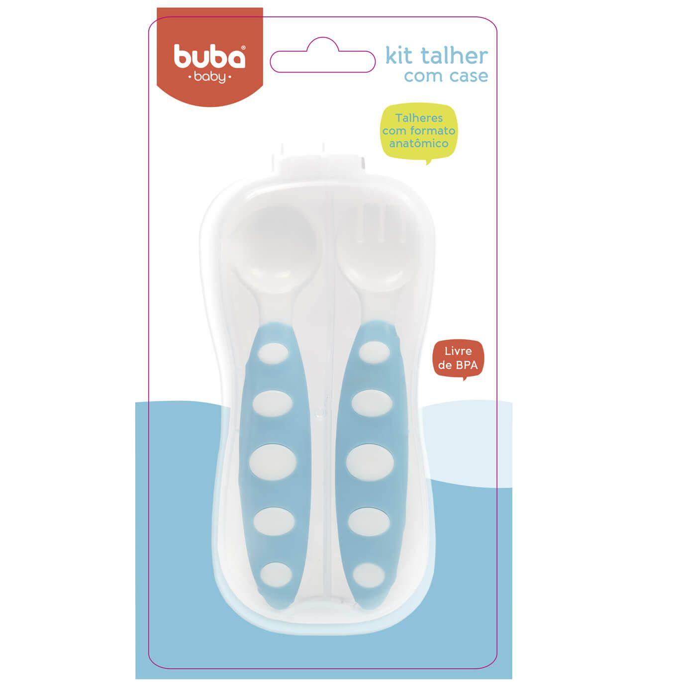 Kit Talher Azul com Case - Buba Baby