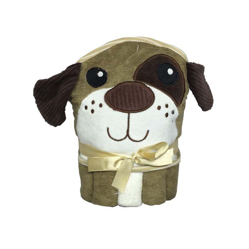 kit Toalha com Capuz e Toalhinhas de Boca Cachorro - Zip Toys
