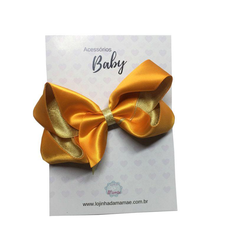 Laço de cabelo 10cm laranja - Baby