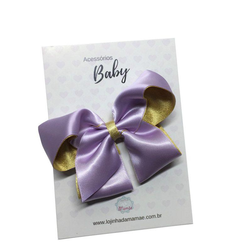 Laço de cabelo 10cm lilás - Baby
