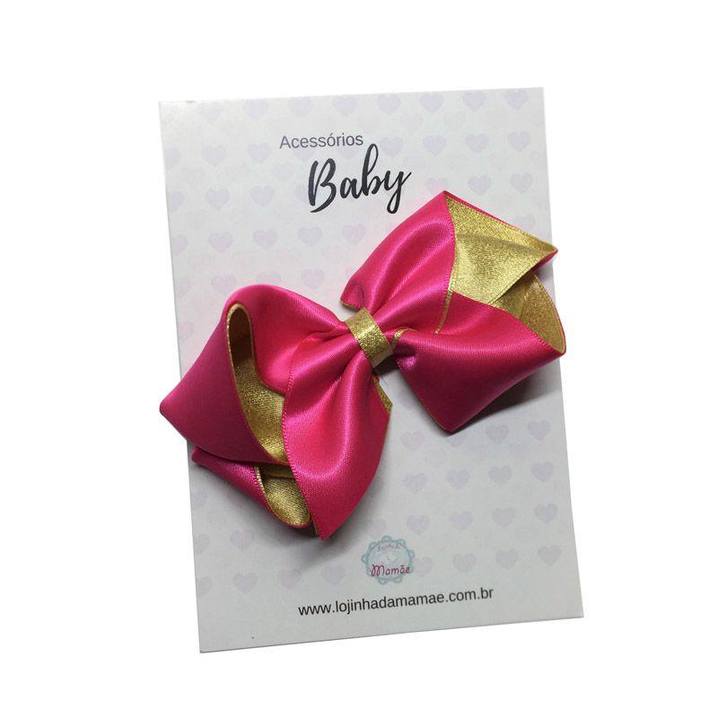 Laço de cabelo 10cm pink - Baby