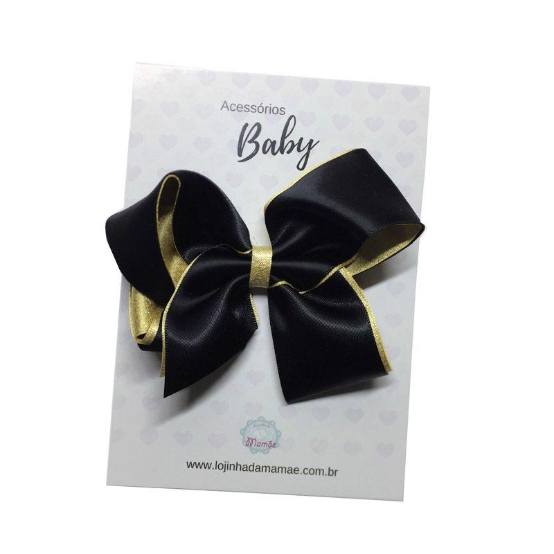 Laço de cabelo 10cm preto - Baby