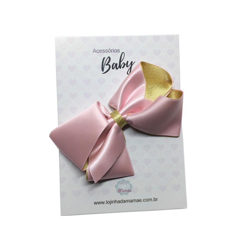 Laço de cabelo 10cm rosa - Baby