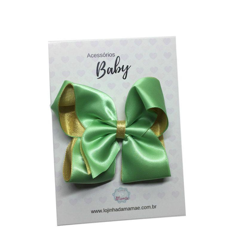 Laço de cabelo 10cm verde - Baby