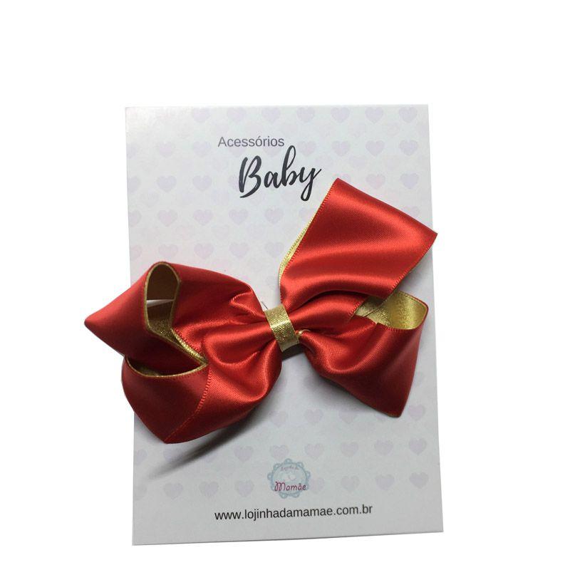 Laço de cabelo 10cm  vermelho - Baby