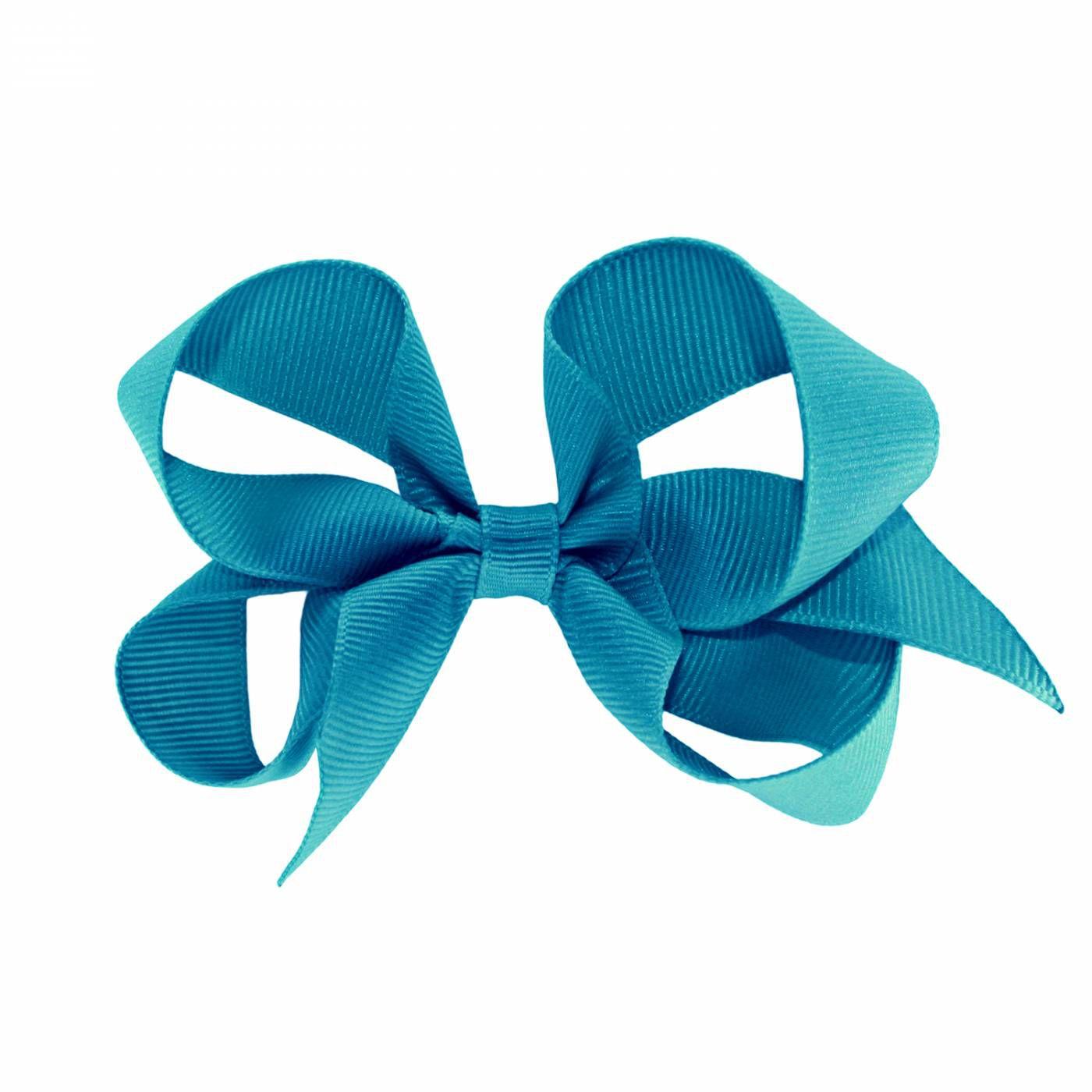Laço de Cabelo  Azul Turquesa  - Gumii