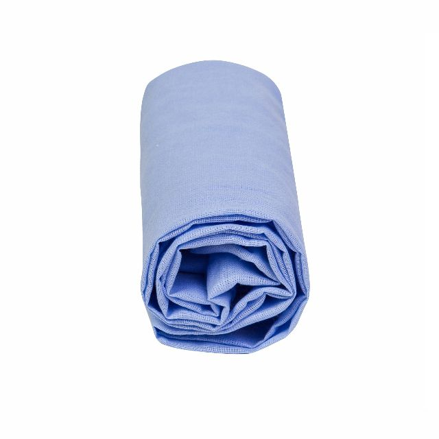 Lençol Berço Avulso com Elástico Azul Claro - Papi Baby