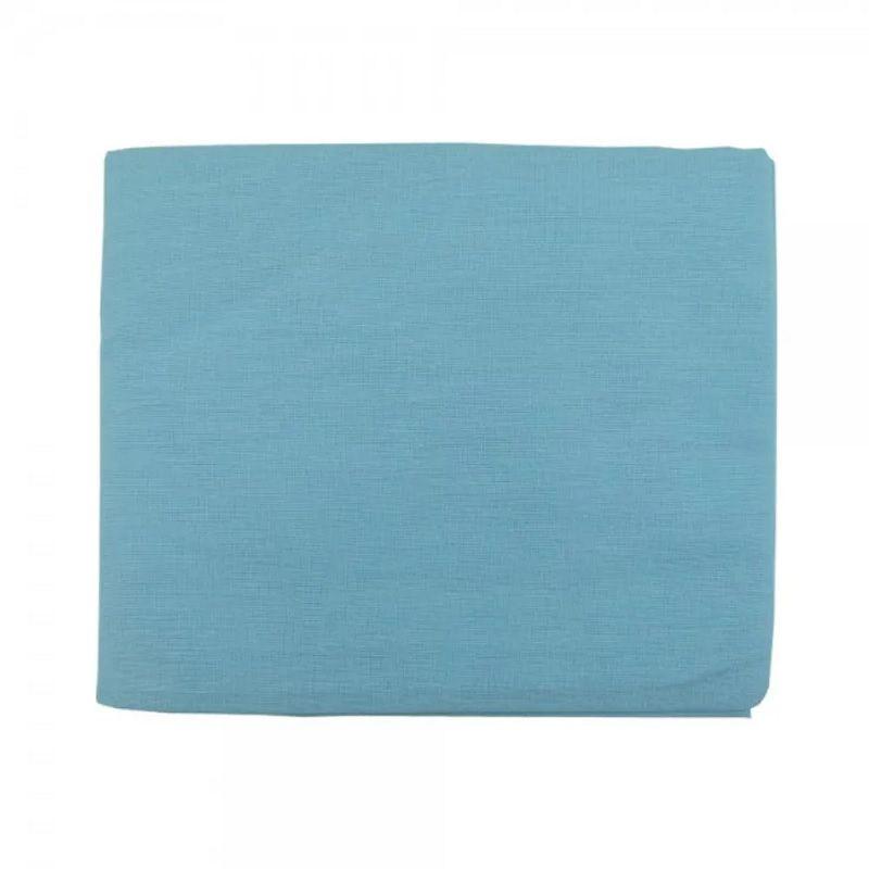 Lençol Berço Tipo Americano com Elástico Azul - Minasrey