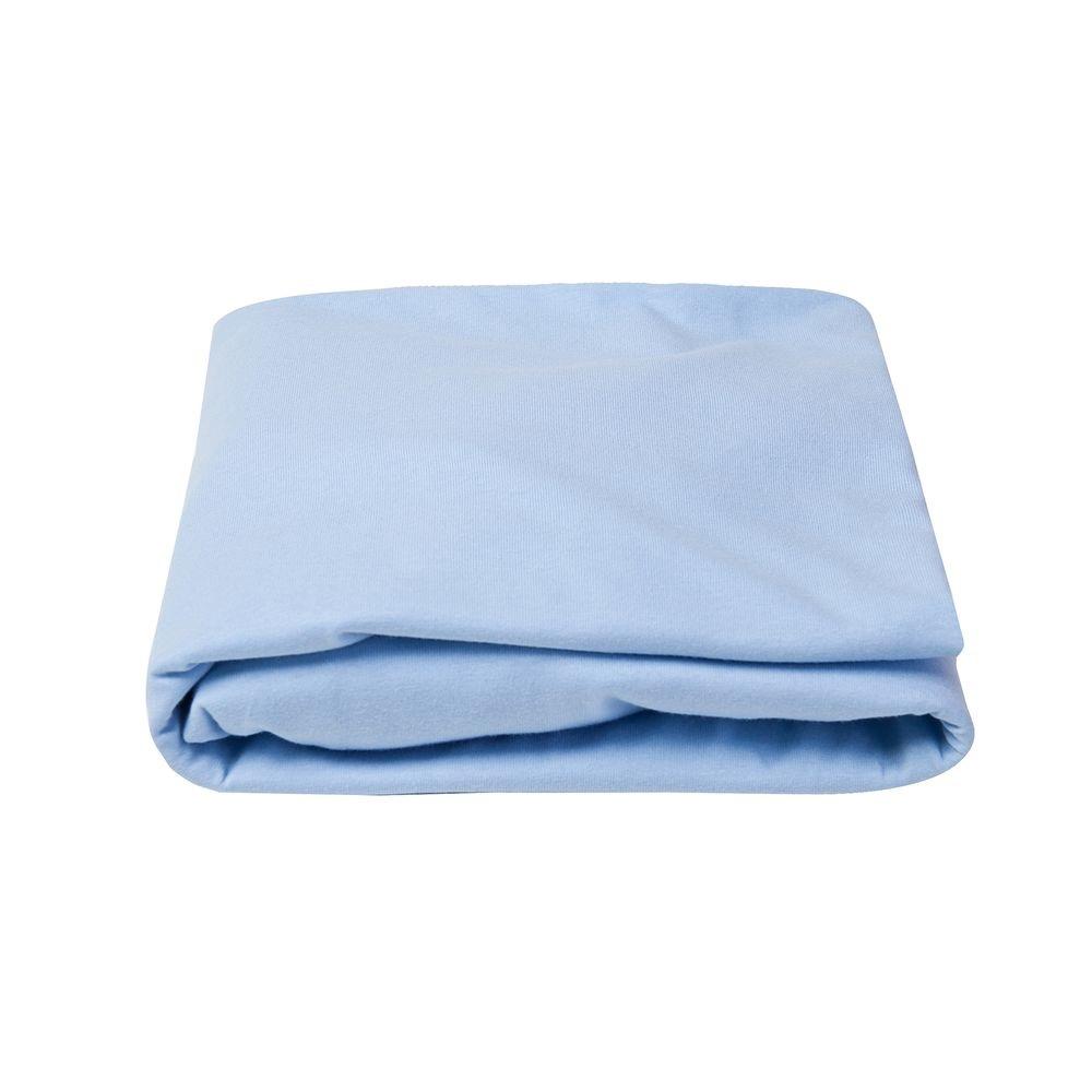 Lençol Berço Tipo Americano com Elástico Azul - Papi