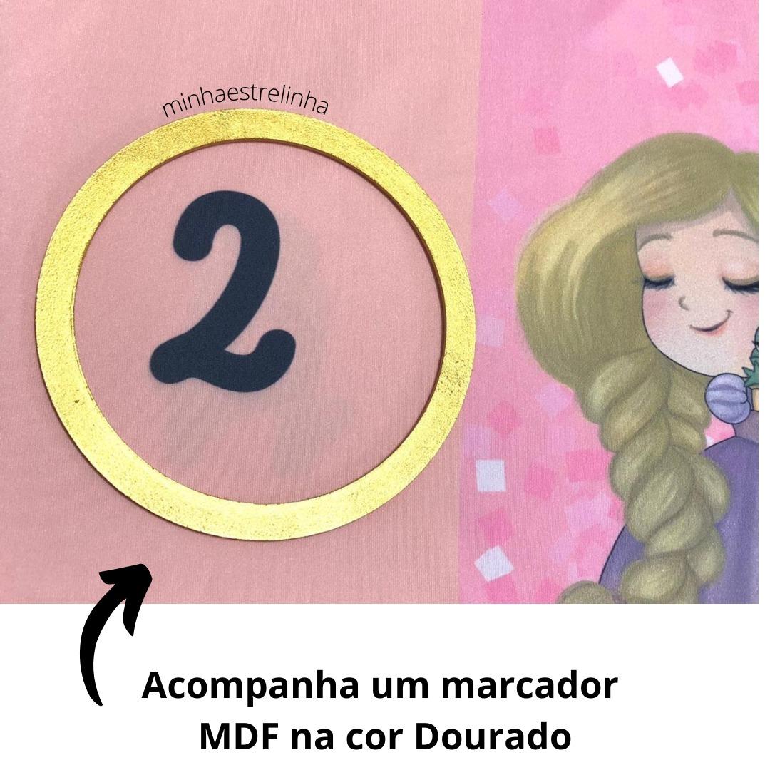 Lençol Cenário Foto Mêsversário Princesas - Minha Estrelinha