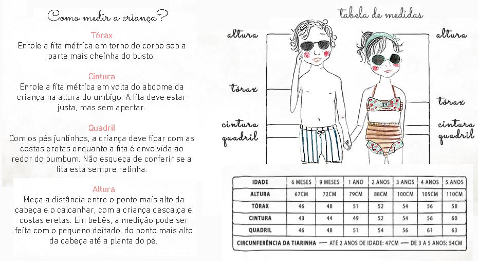 Maiô Infantil Luiza Dourado - Água com Sal