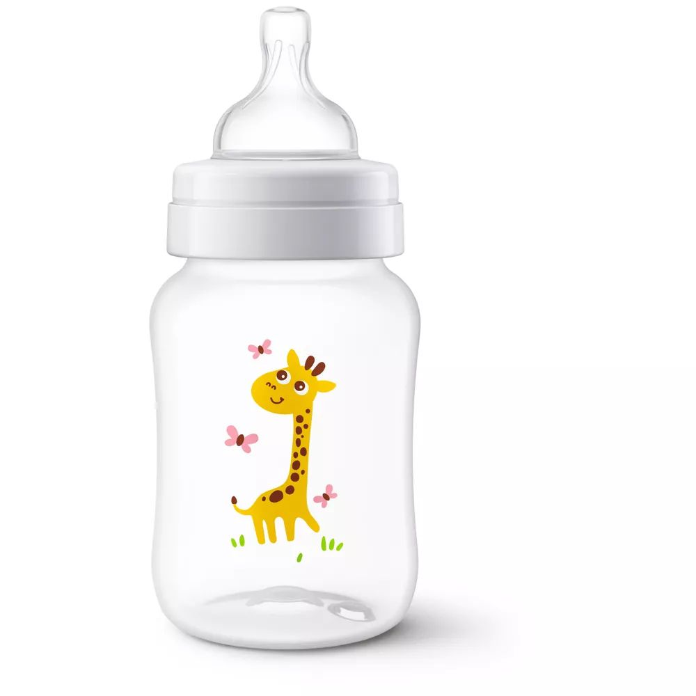 Mamadeira Decorada Philips Avent Airflex - 260ml - Girafa