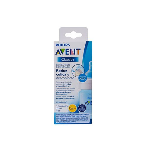 Mamadeira Philips Avent Airflex - 125ml Azul